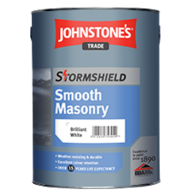 Stormshield Smooth External Masonry Paint - White  10ltr