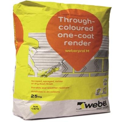 Weberpral M Through Coloured Scratch Render Cream